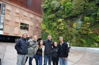 8. Floating Building and Garden Walls: Group Photo of our CIEE group